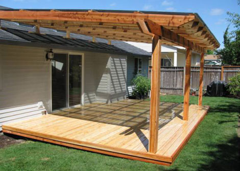 Deck roof covering options